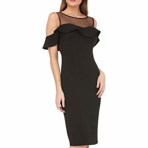JS COLLECTION BODY-CON COCKTAIL DRESS, SIZE 12